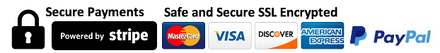 Pay securely through Stripe or PayPal